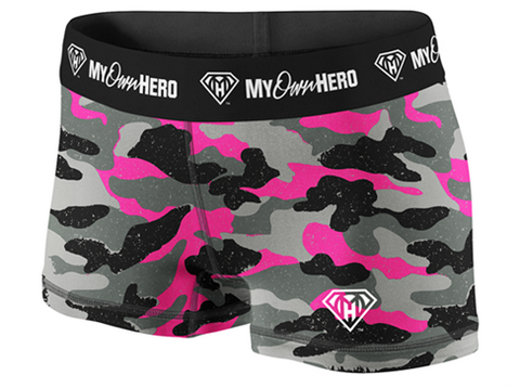 My Own Hero™ - Compression Shorts - Pink Camo