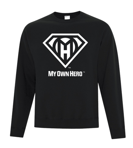 My Own Hero™ Crewneck Fleece - Black