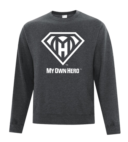 My Own Hero™ Crewneck Fleece - Dark Grey
