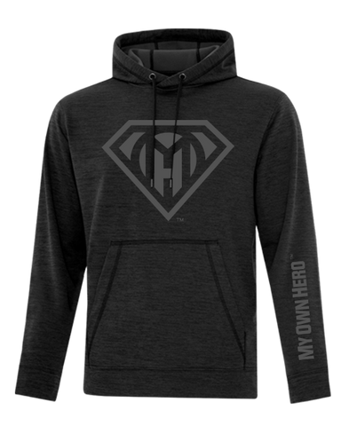 My Own Hero™ Dynamic Fleece Hoodie - Heather Black
