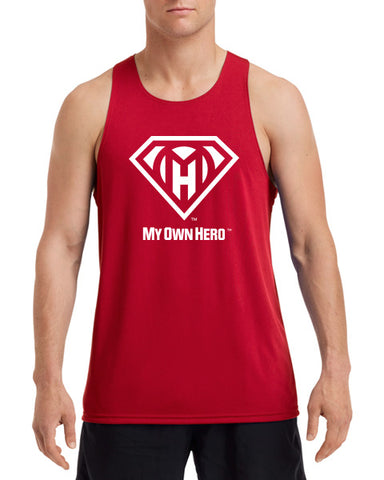 My Own Hero™ Men's Performance Singlet - Red