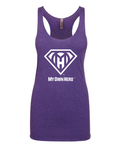 My Own Hero™ Women's Racerback Tank - Purple Rush