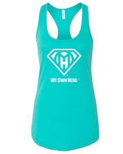 My Own Hero™ Women's Racerback Tank - Tahiti Blue