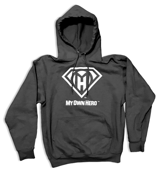 My Own Hero™ Pullover Hoodie - Dark Heather Grey