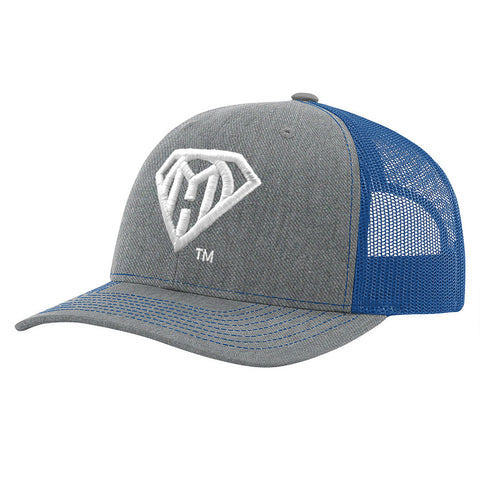 My Own Hero™ Mesh Snapback - Blue/Heather Grey
