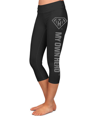 My Own Hero™ - Capri Compression Leggings - Signature Black