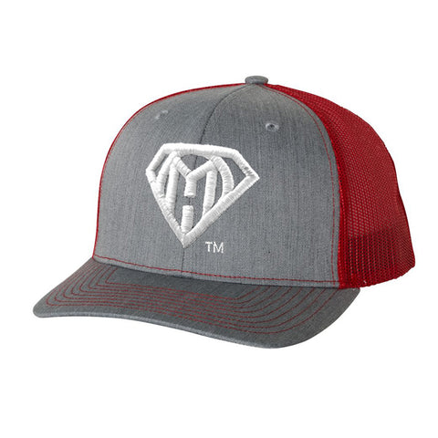 My Own Hero™ Mesh Snapback - Red/Heather Grey