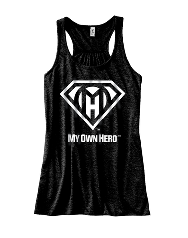 My Own Hero™ Women's Flowy Racerback Tank - Black