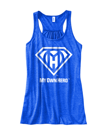 My Own Hero™ Women's Flowy Racerback Tank - Blue