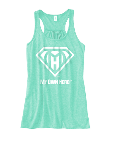 My Own Hero™ Women's Flowy Racerback Tank - Mint