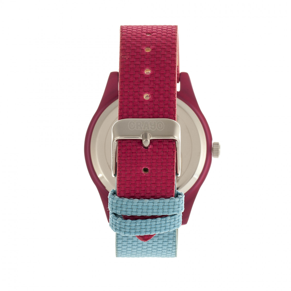 Crayo Pleasant Unisex Watch - Powder Blue/Fuchsia - CRACR3905