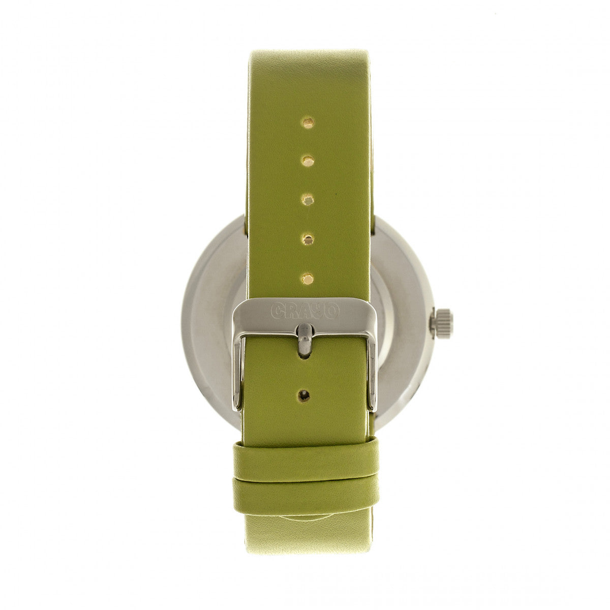 Crayo Button Leather-Band Unisex Watch w/ Day/Date - Green - CRACR0203