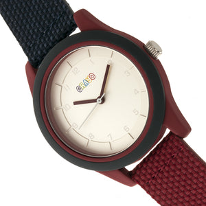 Crayo Pleasant Unisex Watch - Navy/Maroon - CRACR3906