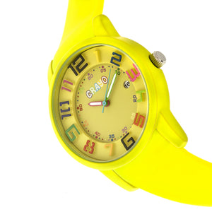 Crayo Festival Unisex Watch w/ Date - Yellow - CRACR2002