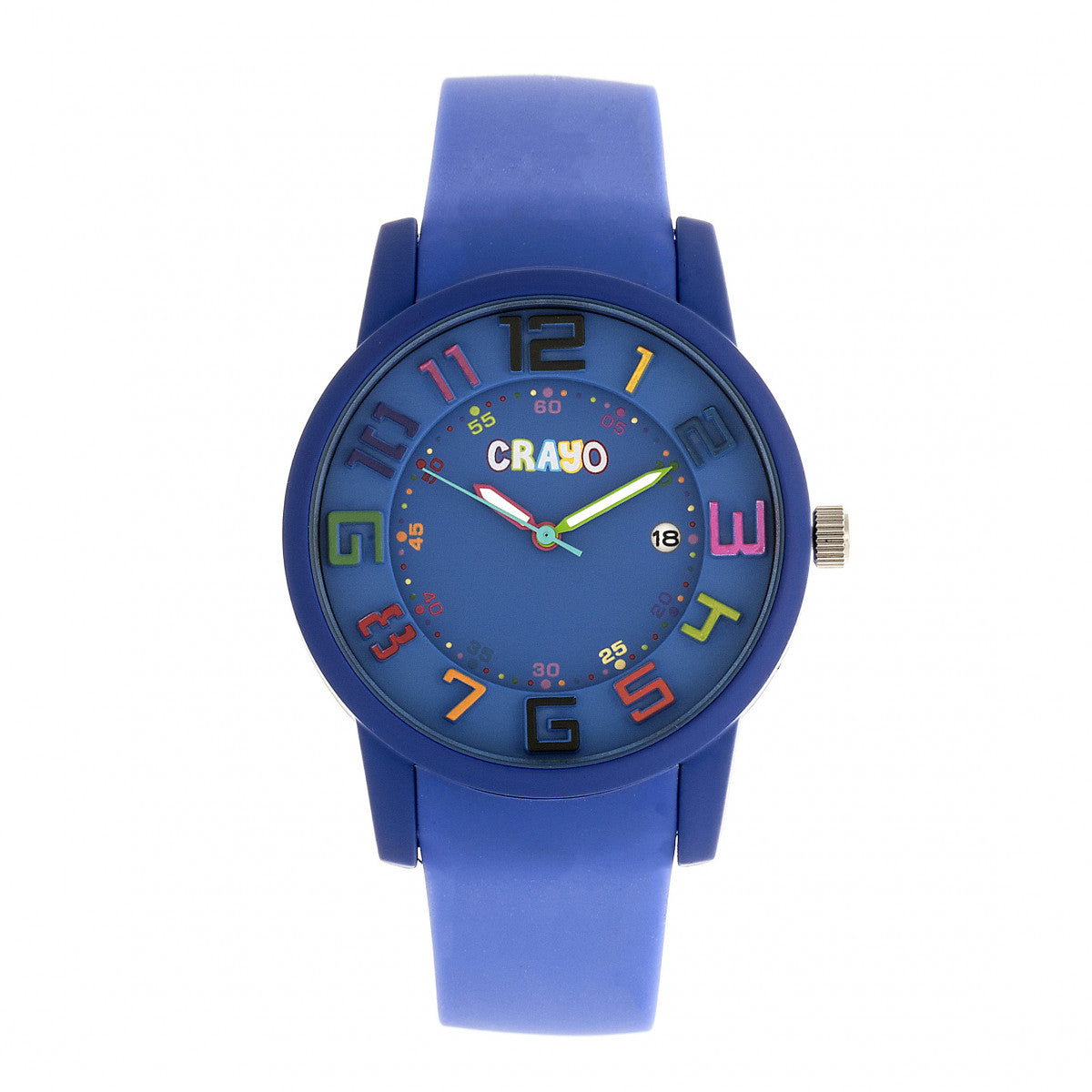 Crayo Festival Unisex Watch w/ Date - Purple - CRACR2004