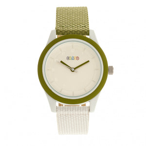 Crayo Pleasant Unisex Watch - Olive/White - CRACR3904