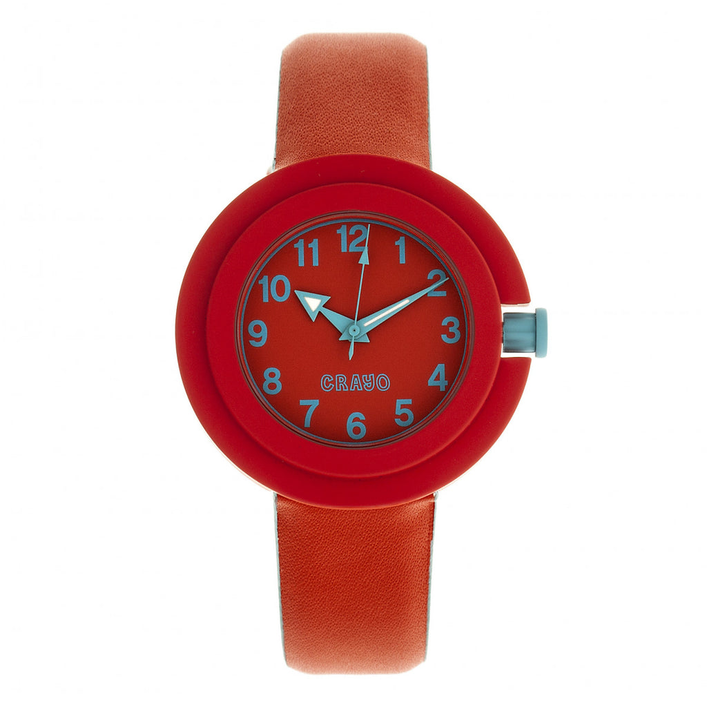 Crayo Equinox Unisex Watch - Red/Cerulean - CRACR2801