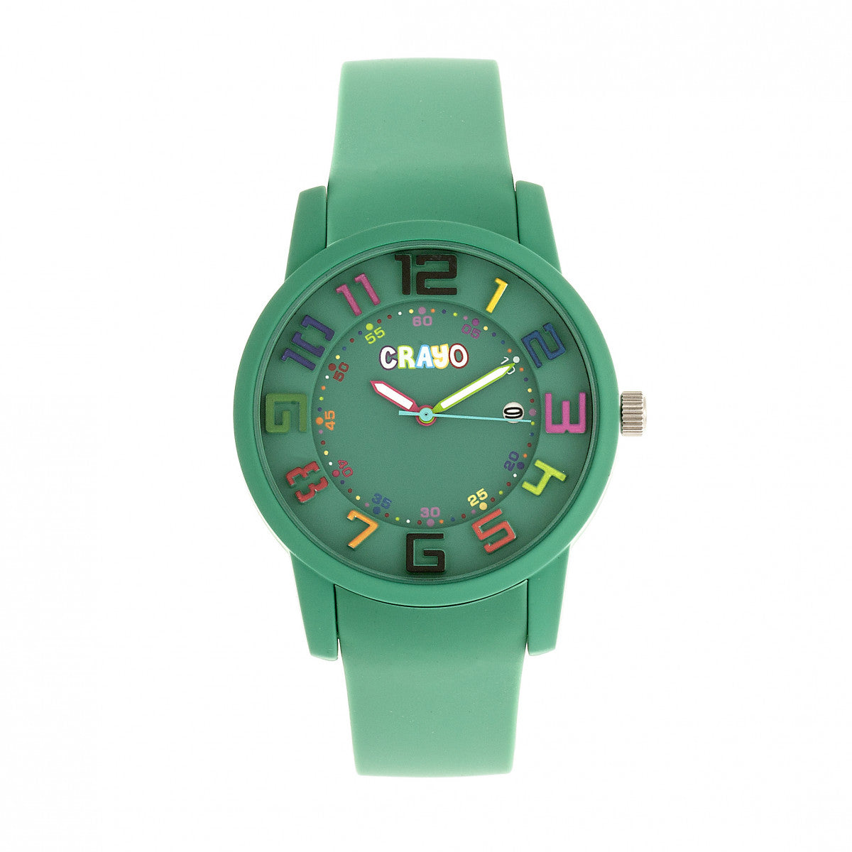 Crayo Festival Unisex Watch w/ Date - Teal - CRACR2003
