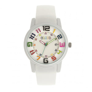 Crayo Festival Unisex Watch w/ Date - White - CRACR2001
