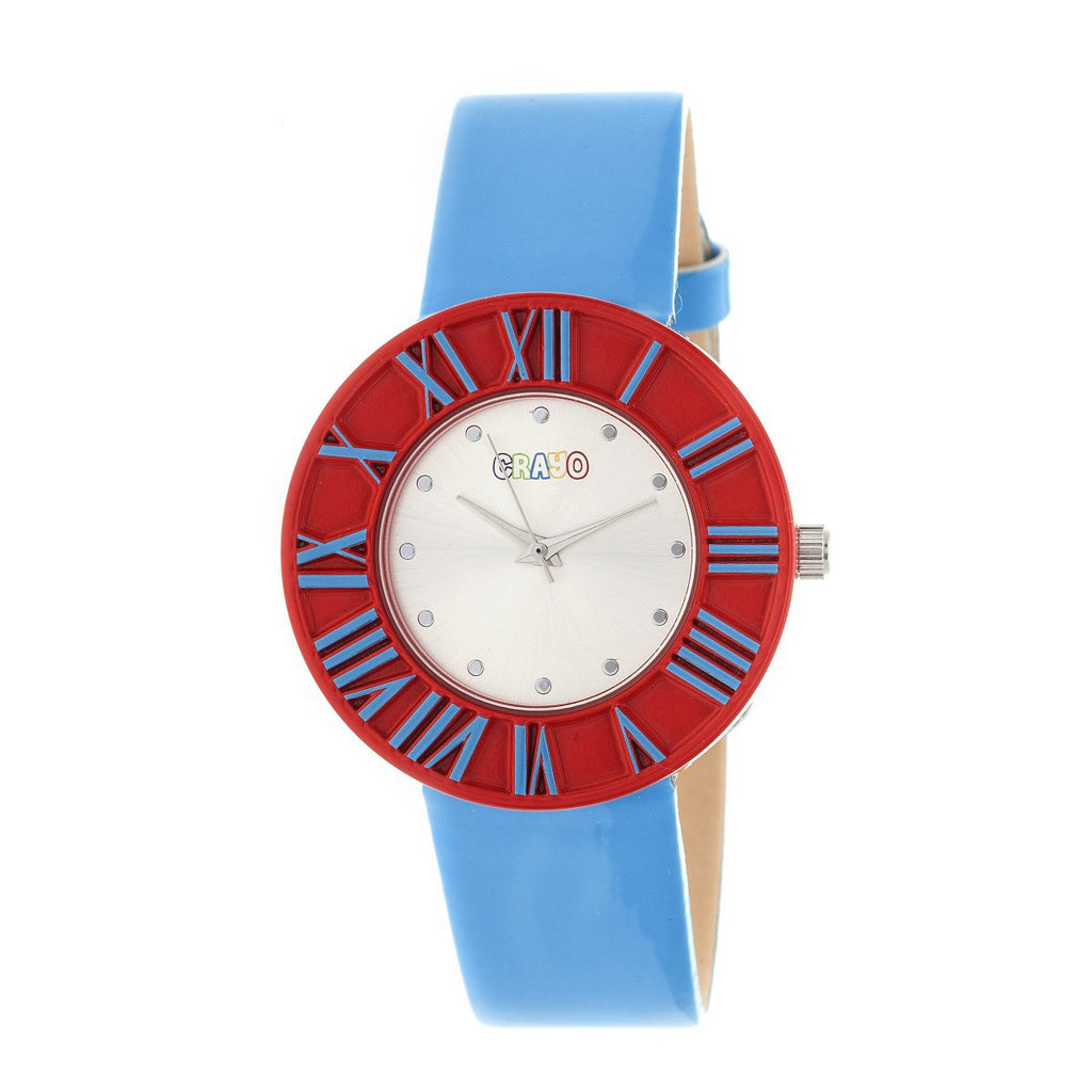 Crayo Prestige Unisex Watch - Cerulean/Red - CRACR3102