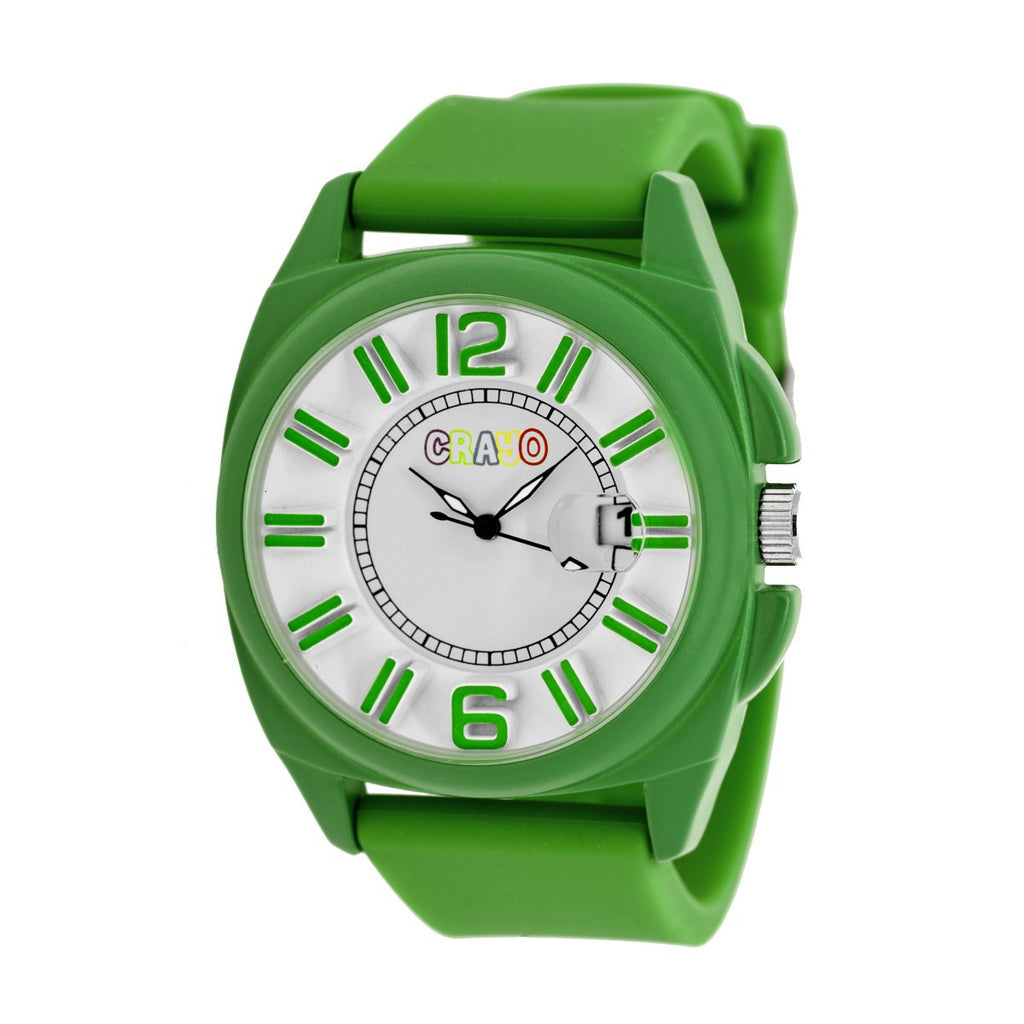 Crayo Sunset Unisex Watch w/Magnified Date - Green - CRACR3306