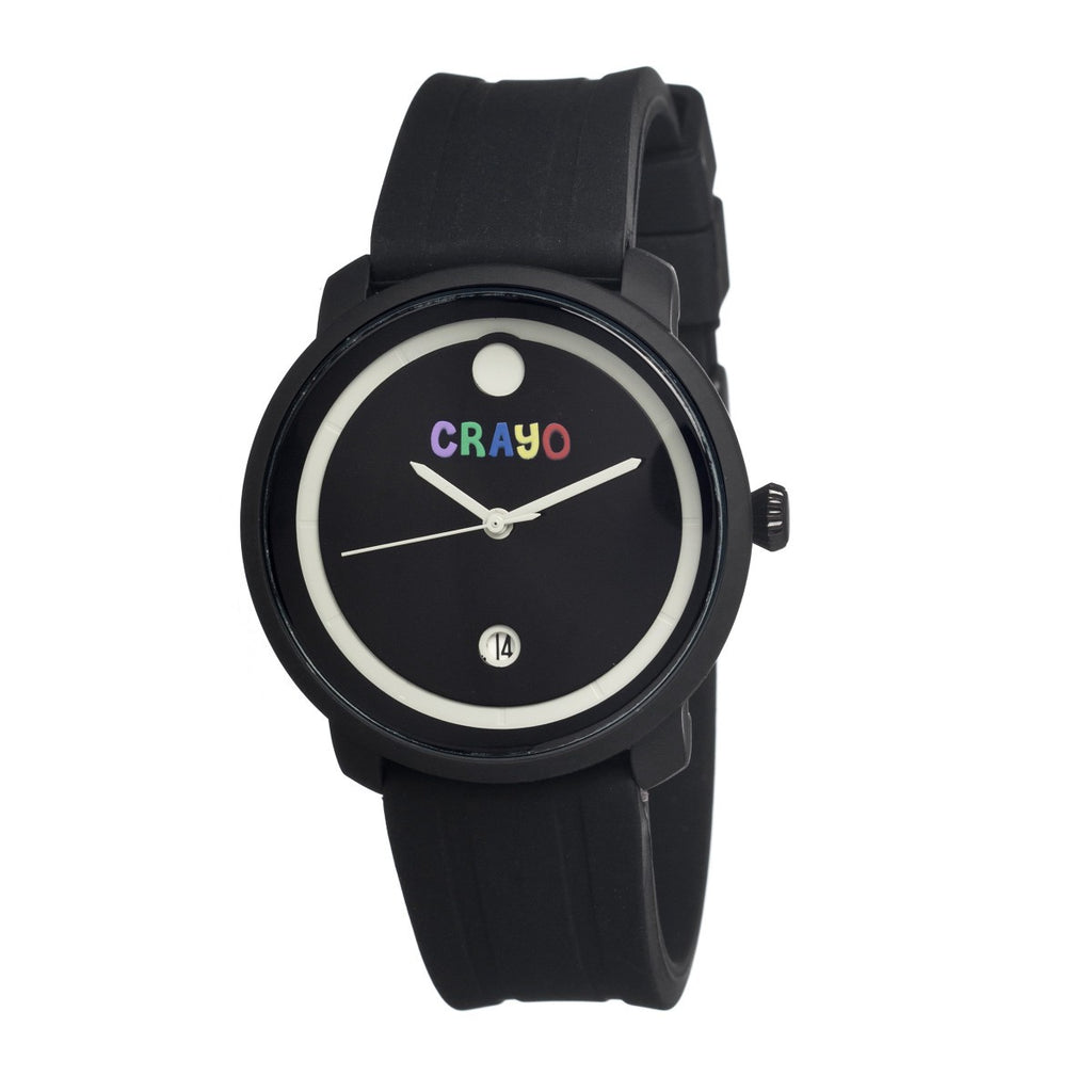 Crayo Fresh Unisex Watch w/Date - Black - CRACR0301