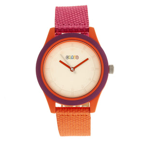 Crayo Pleasant Unisex Watch - Hot Pink/Orange - CRACR3902