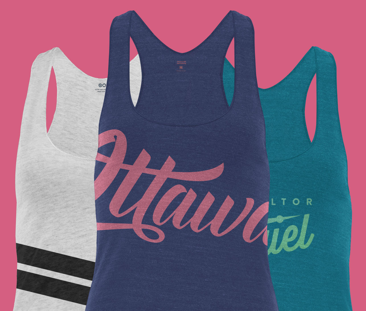 differnt color tank tops