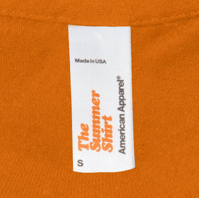 American apparel label mock up
