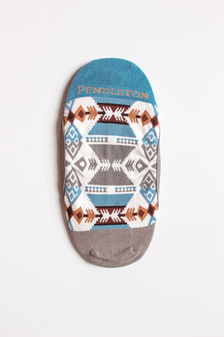 Pendleton No Show Liner Socks - Grey