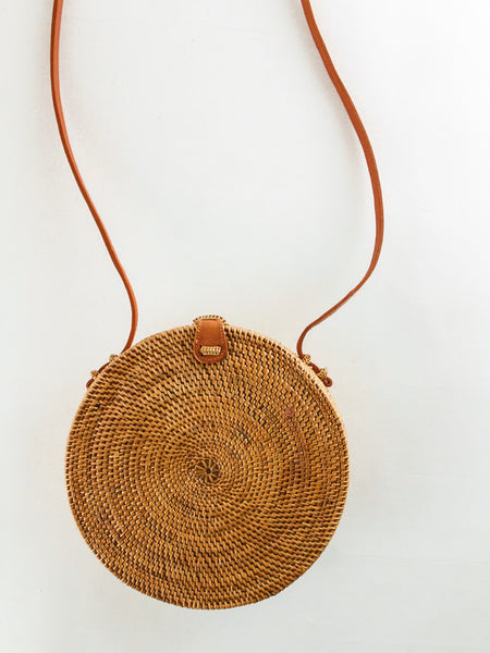 Large Woven Basket Bag