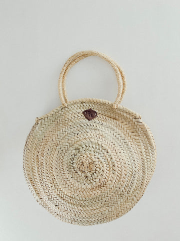 Round Palm Leaf Beach Tote