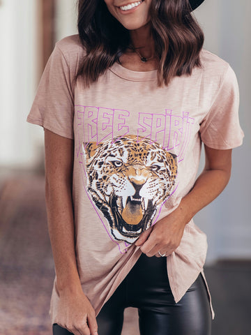 Free Spirit Cheetah Graphic Tee