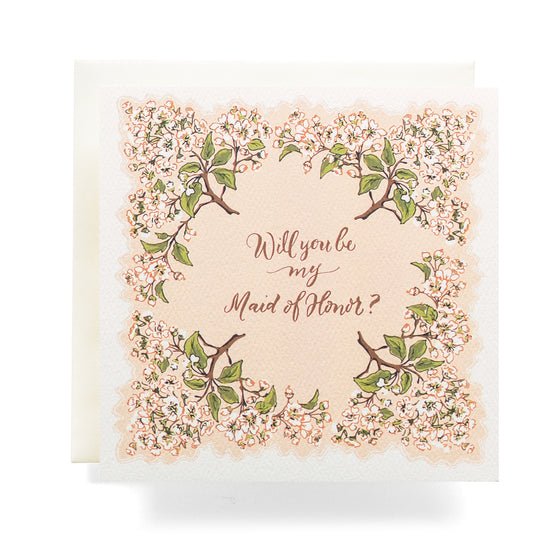 Antiquaria - Handkerchief Maid Of Honor Greeting Card
