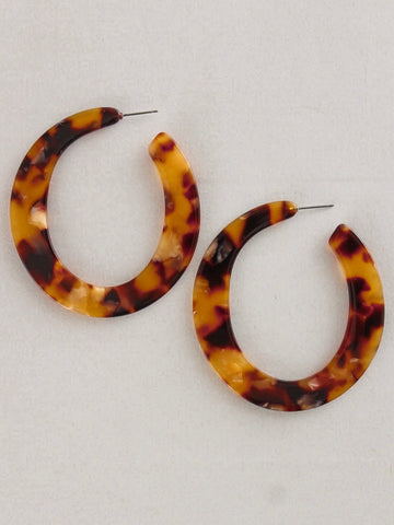 Tort Hoop Earrings
