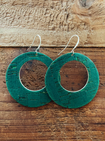 Evergreen Cork Luna Earrings