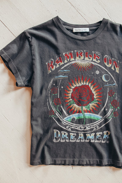 Daydreamer Rambel on dreamer graphic tee.