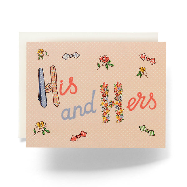 Antiquaria - Retro His & Hers Greeting Card