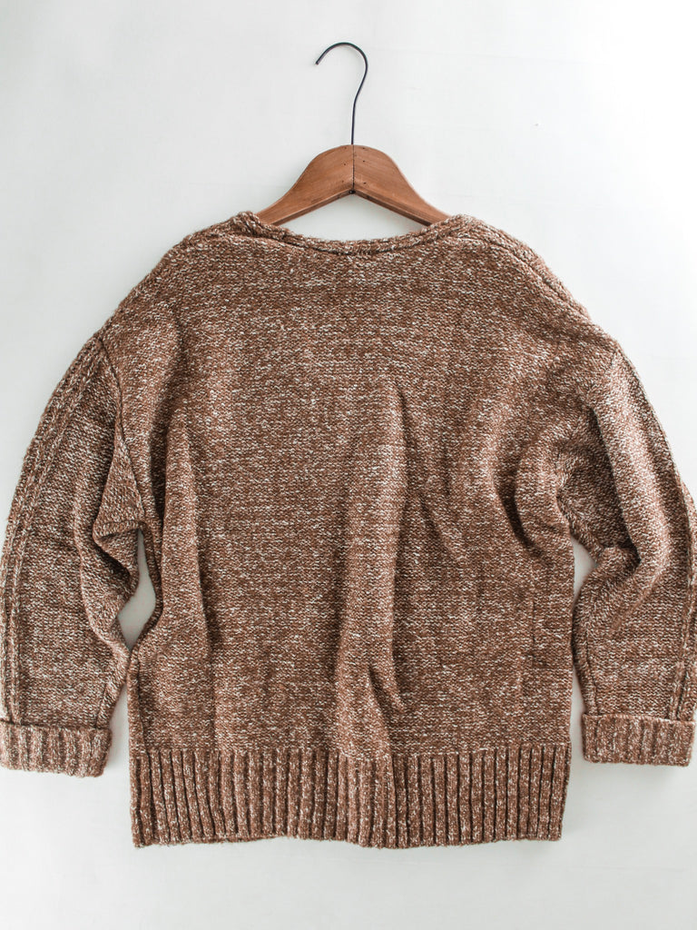 Cable Knit V Neck Sweater The Rollin J