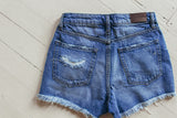 Hidden Sofie High Rise Exposed Button Mom Short