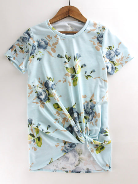Light Blue Floral Top