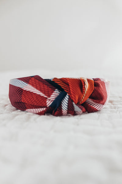 Plaid Print Headbands