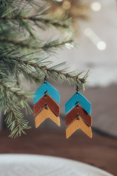 Jones & Lake Leather Arrow Earrings