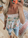 Tropical Print swing cami tank top.