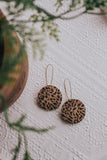 Jones & Lake Leopard Cork Earrings