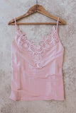 Light pink lace camisole.