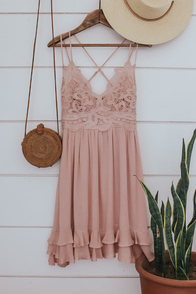 The Boho Crochet Front Dress