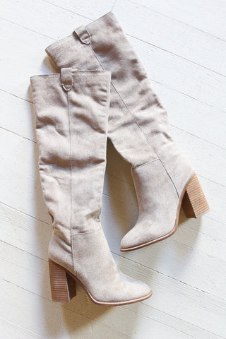 Women's tall winter boots.