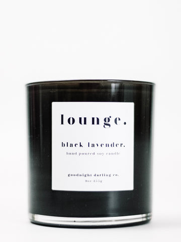 Goodnight Darling Co. Black Lavender Wooden Wick Candle