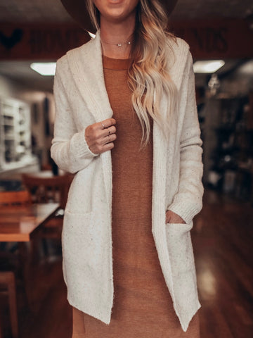 Cream Fleck Sweater Cardigan